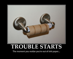 No Toilet Paper Demotivator by MrAngryDog