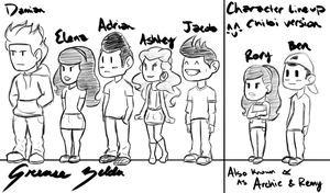 Chibi Line Up by GreaseZelda