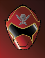 Gokai red Helmet by CrossedRunner