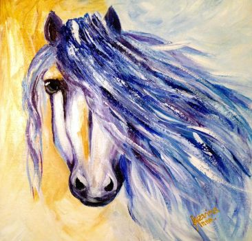 Blue horse by AnnaLevi