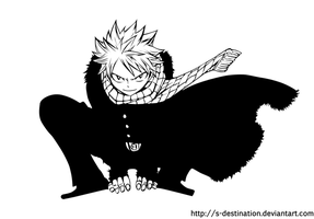 Natsu in black by s-destination