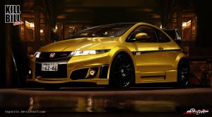 Honda Civic-Kill Bill Edition by Saporita