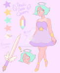 Angel Aura Quartz Gemsona by Dollisuu