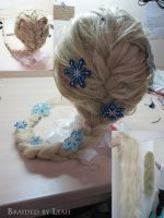 Elsa's wig WIP by pisces219320