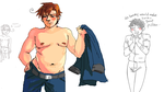 Hetalia - fatty Romano by weaselyperson