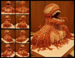 Venom Clay Sculpture. by C-H-O-N-C-H-O
