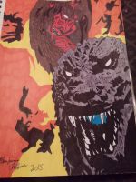 My Godzilla in hell cover artwork. by hugeben