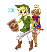 Link And Tetra (Protect Me) by Neonyal