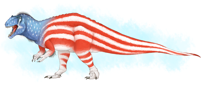 A ridiculous concoction I call 'Capitalsaurus' by DrawingDinosaurs