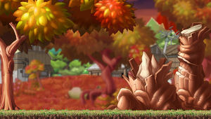 Maplestory Map - Forest/Hidden Village by iForLiving