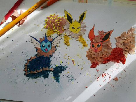 Eevee art by griottewithoutchoc