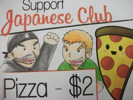 TWO BEST FRIENDS SAY BUY PIZZA! by Alanwakeup