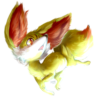 Fennekin by amidst
