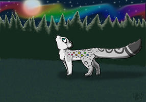 Skiz the Snow Leopard -AT- by lillyleaf101