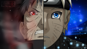 Naruto and Obito | Collab with BaloohGN [Color] by xRyuuzakii
