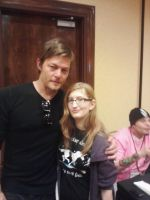Norman Reedus and I by Vibrating-Piggies