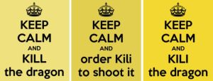 TGD #13: Keep calm and Kili the dragon by PeckishOwl