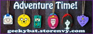 Adventure Time Pendants by Hatter2theHare