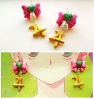 Handmade sailor Jupiter Inspired Magical Earrings by mayumi-loves-sora