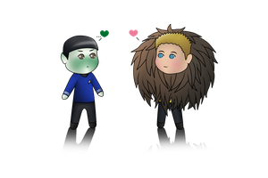 Spirk - Tribble-Hub Love! (Chibi) by MSU82