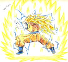 Goku SS 3 / Dragon First by Madarius