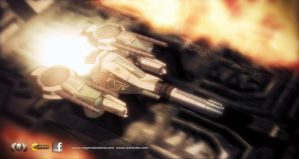 AXN-02 T space fighter mode. by UEGProductions