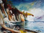 Chalk Cliffs On The Island Ruegen In Fall by BarbaraPommerenke