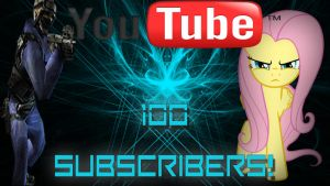 GSG9 and Fluttershy - 100 Subscribers by Amoagtasaloquendo