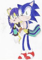 Sonic Carrying Mina by BlueSpeedsFan92