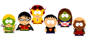 South Park'd Young Justice by SkyRider747