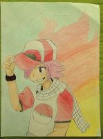 Contest Entry: Trainer Natsu Dragneel by Pikawolf11