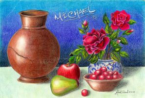 Pote, flores e frutas by Michael-David
