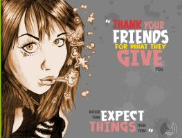 Friends Thanks by abodemous