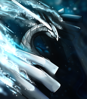Lugia: Guardian of the raging seas by Morthern