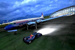 RedBull X-1 at the hanger by whendt