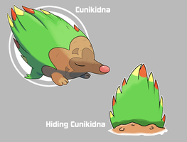 Cunikidna and hiding Cunikidna by Marix20