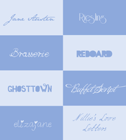 Fonts Pack #002 by its-LostGirl-drt