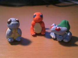 Kanto Starters by Mirera