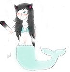 Neko Marmaid by littlewhitedaffodill