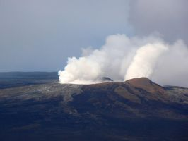 Hawaiian Volcano Erupting by Geotripper