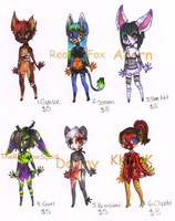 Adoptables 2nd Litter CLOSED by AshenAdoptables