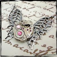 Steampunk Mechanical Butterfly by SoulCatcher06
