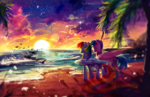 MLP C: Relaxing by AquaGalaxy