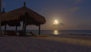 Full Moon over the Beach (a bit closer-up) by Wyco