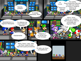 Mario and Sonic CV Chapter 4 Part 13 Spanish by Mazznick