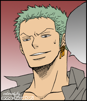 Zoro coloring, Pointless Perverted Gag by AnnaHiwatari