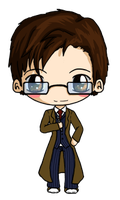 The Tenth Doctor Chibi by IcyPanther1