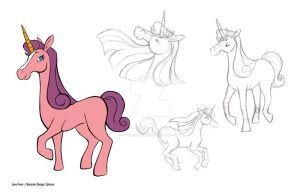 Love Fever: Unicorn Character Design by xYaminogamex