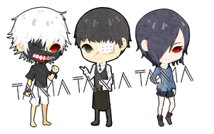 Tokyo Ghoul Chibi by haphwei