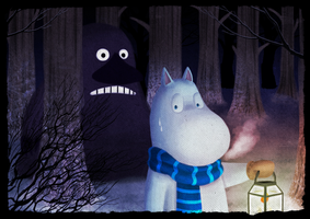 Frost Ghost of Moomin by Lazy-a-Ile